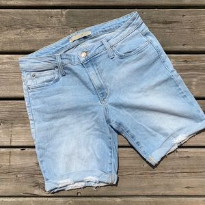 Joes Jeans Womens Shorts Light Wash Distressed